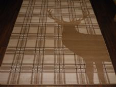 Rugs Approx 8x5ft 160cmx230cm Woven Backed Top Quality stags Check Large Beiges